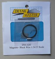 MAGNETO BLACK WIRE 1:24 1:25 DETAIL MASTER CAR MODEL ACCESSORY 3241
