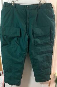 Cabellas Men's 2XL Goose Down Insulated Cargo Snowmobile/Ski Pants Green
