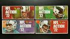 1,000 Mint Booklets 1972 Sunoco NFL + Mint Album + Wallets + 9 Uncut Sheets
