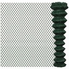 More details for outdoor chain link fencing roll 15m / 25m pvc garden fence panels steel durable