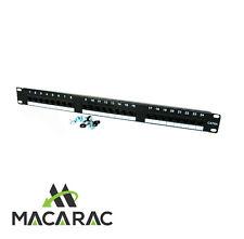 "1U PATCH PANEL(CAT6a / RJ45 24 Port /P/C Black 19"" Inch Rack-Mount Application)"