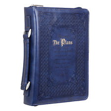 The Plans Blue Large Bible Cover with Jeremiah 29:11