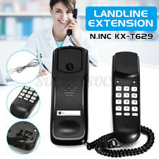 Wired Wall Mount Phone Corded Landline Handle Fixed Desktops Telephones For Hom