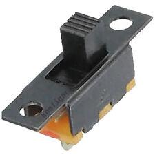 10 Miniatur Schiebeschalter schwarz 1xEIN/AUS/UM schaltend 60/30V 0,1A 20x5,8mm
