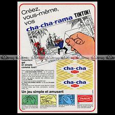 PAREIN Biscuits CHA-CHA & TINTIN 1968 - Pub / Publicité / Advert Ad #A839