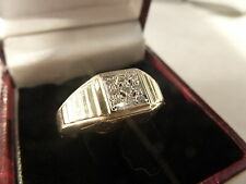 9k 9ct Solid Gold Diamond Ring. 0.17ct Size P-Q 4.94g