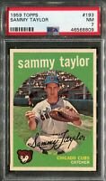 1959 Topps #193 Sammy Taylor PSA 7 NM