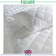 Quilted Mattress Pillow Cot Protector All Sizes In Stock Deep Fitted Bed Sheet