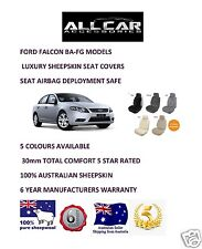 Sheepskin Car Seatcovers for Ford Falcon BA to FG Seat Airbag safe, 30mm TC