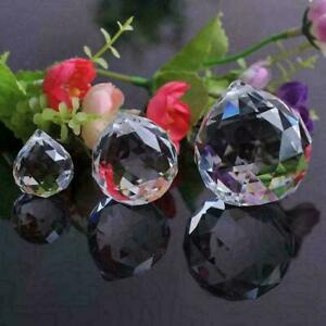 FENG SHUI HANGING CRYSTAL BALL Choice of Colors Faceted R9Z6 Sphere Prism K0N7