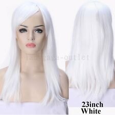 Black Brown Blonde Hair Wig Long Straight Curly Wavy Cospaly Party Wigs Women d3