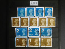 Great Britain 2009 15 Different Security Machin Definitives Collection