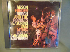 CD Anson Funder Burch and the Rockets signed case concert performance music art