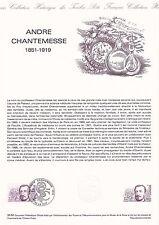 Document Philatélique Timbre 1er Jour : 23/10/ 1982 - André Chantemesse