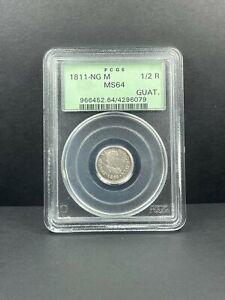 1811-NG M Guatemala 1/2 Real PCGS MS 64