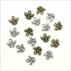 20/100/300pcs retro Jewelry Making Little bees alloy charms pendant DIY 11x10mm