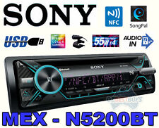Sony Single DIN Bluetooth Car Stereo CD System USB AUX Microphone Mex-n5200bt