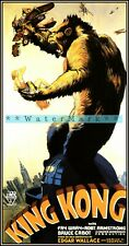 King Kong 1933 Movie Film Vintage Poster Print Art Retro Style Movie Decoration