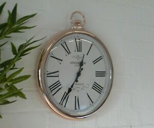 large Rose Gold Copper Pocket Fob Watch Large Vintage Retro London Wall Clock