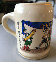 Vintage 98' Signed Paul Tadlock WURSTFEST New Braunfels TX German Beer Mug Stein