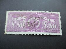 Victoria Stamps: £25 Stamp Duty Used - Rare seledom seen  (c275)