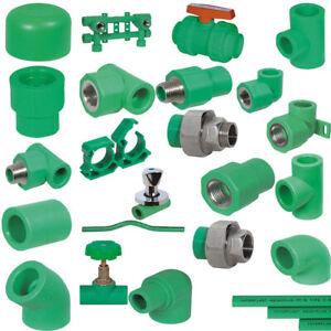 Fusiotherm Aquatherm Aqua-Plus Fittings PPR Winkel T-Stücke 20-40mm