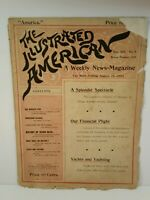 Vintage August 26 1893 The Illustrated American A Weekly News Magazine Ephemera