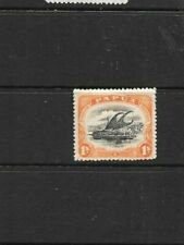 STAMPS   PAPUA  1907 1/- SMALL PAPUA   WMK SIDEWAYS PERF 12.5  MINT HINGED