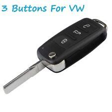 FOR VW AUDI GOLF MK5 PASSAT BEETLE BORA POLO 3 BUTTONS FLIP REMOTE KEY FOB CASE