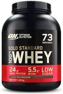 Optimum Nutrition Gold Standard Whey 100% Protein Powder 2.26kg Double Rich Choc