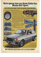 1978 Mazda GLC Sport You're Going To Love Our Great Little Car Print Ad