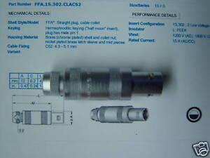 LEMO Größe 3S Kabelstecker 4-polig FFP.3S.304