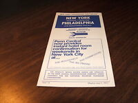 JUNE 1971 AMTRAK/PENN CENTRAL FORM 12 NYP-NWK-TRE-PHL SERVICE PUBLIC TIMETABLE