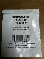 """SPACER UNTHREADED 1/4"""" LONG PACK OF 10 ALUMINUM"""