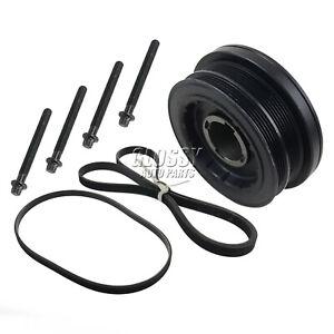 1*Crankshaft Pulley+4*Bolts+2*Belts for BMW 5 (E60) 530 xd Saloon 11237793593
