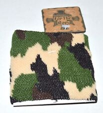 NEW Knitted camouflage cuff bracelets fashion costume jewellery mens