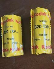 NEW! Kodak Tri-X 320 TXP B&W Negative Film 2 Rolls EXPIRED 09/2011