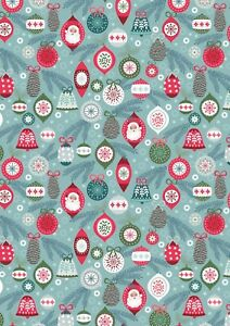 Lewis & Irene baubles on ice xmas Christmas 100% cotton fat quarter-metre