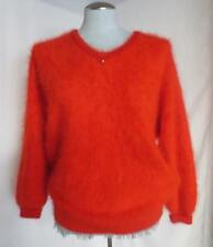 Connie A Lee Furry Angora Red Sexy Pullover Fancy Sweater Super Soft  M/L