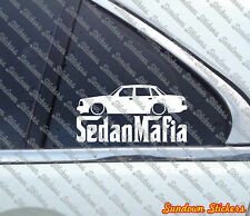 Lowered SEDAN MAFIA car sticker - for Volvo 240, 244,GLT Turbo | classic