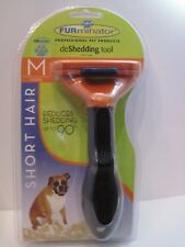 FURminator Short Hair deShedding Tool for Cats Dogs Medium