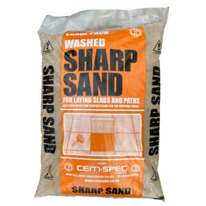 Washed Sharp Sand | Grit Sand | 20kg Bag | Next Day Delivery