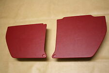 Holden HQ kick panels L & R. Red vinyl. NEW. Incl trim clips.