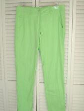 Chervo Sports Womens Golf Pants Stretch Light Green Sz 8 Small Sunblock NWOT New