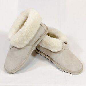 Lamo Lady's Fleece Australian Sheep Skin Booties US Shoe Size 8.5 M