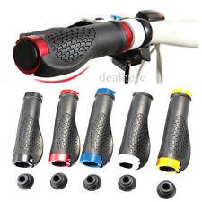 1Par de Aluminio Goma Empuñaduras Puños Manillar Grips Bicicleta Bici MTB SF
