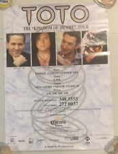 1992 Rock Band - TOTO  Concert in  Singapore poster