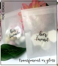 His / Her  favourite sticker Transparent loss Wedding confetti favours