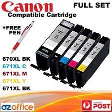 FULL SET 5 x Canon Ink Cartridge PGI 670 XL CLI 671XL Pixma MG5760 MG5765 MG6865
