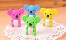 36Pcs Cute Koala Erasers Mixed Color